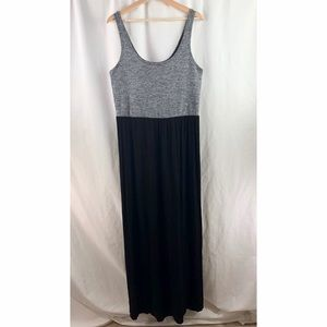 Lou & Grey Maxi Dress Long Black Heathered Gray
